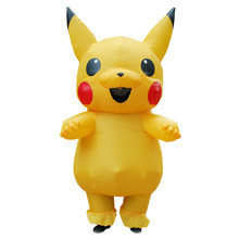 Pokemon Pikachu Fantasy Inflatable Suit Halloween Funny Carnival Party Costume(China)