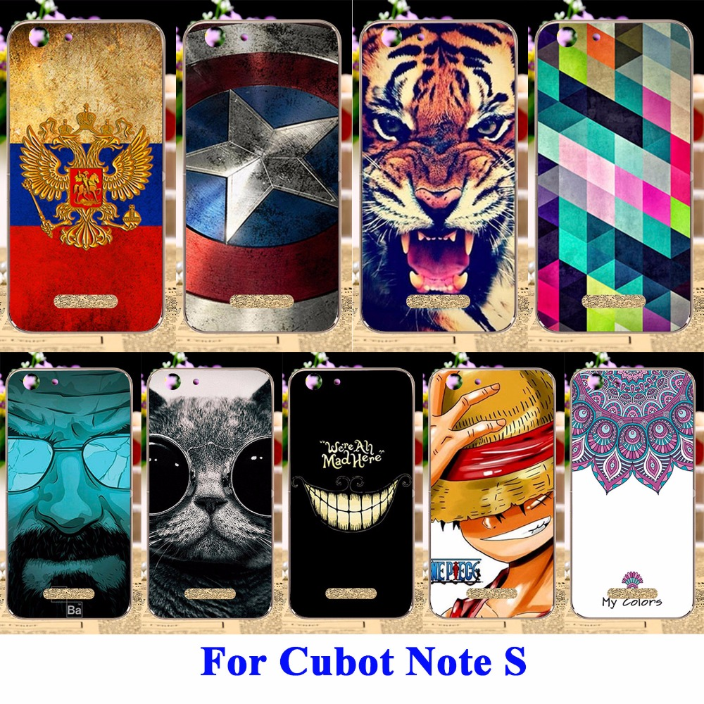 Cell Phone Shell For Cubot Note S Cubot Dinosaur 5.5 Cases Cover Flexible Silicon Housing Skin For Cubot Note S Fundas(China (Mainland))