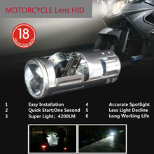 Motorcycle Lens HID H6 35W Xenon headlight  universal motorbike hid lights ballast lamp DC 12V Moto 6000K lights accessories