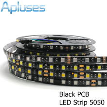 5m/Lot 5050 Black PCB LED Strip 12V Flexible Decoration Lighting IP65 Waterproof LED Tape RGB/White/Warm White/Blue/Green/Red