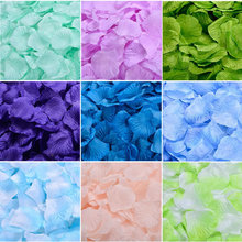 Rose Petals 5000pcs/lot Cheap Online Wholesale Wedding Decorations Fashion Artificial Polyester Wedding Christmas Flower Petal(China)