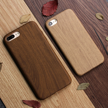 Keysion Luxury Wooden Pattern TPU Cover For Apple iPhone 8 8 Plus 7 7 Plus Case Imitation Wood Grain Soft Back Shell Phone Case(China)