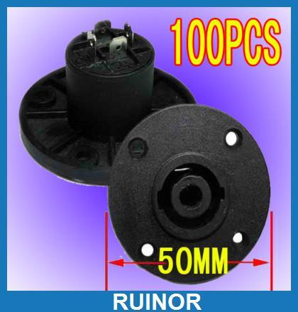 100pcs DJ 4 Pole Speaker Sockets Chassis Socket Plug<br><br>Aliexpress