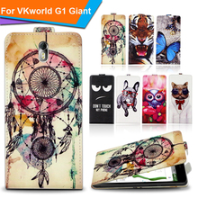 Newest  For VKworld G1 Giant Factory Price Luxury Cool Printed Cartoon 100% Special PU Leather Flip case cover,Gift