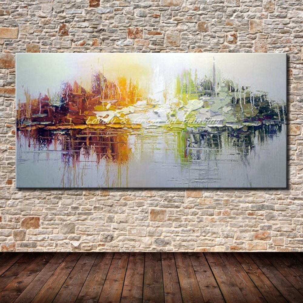 Hand Painted Canvas Oil Paintings Modern Abstract Oil Painting On Canvas Wall Art Pictures For Living Room Hotal Decor Best Gift(China)