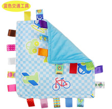30cm Baby toy appease towel Comforting Taggies Blanket wipe Plush toy label bell car bed hanging child gift Toddlers colorful