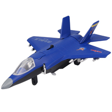 F35B Fighter Aircraft Electronic Moving Flashing Model Alloy Kids Boys Toys Diecast Airplane Toys Collection For Aviation Fans(China)