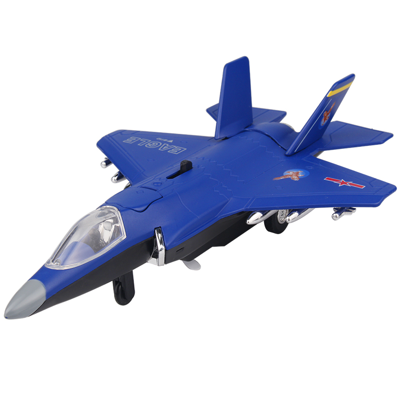 F35B Fighter Aircraft Electronic Moving Flashing Model Alloy Kids Boys Toys Diecast Airplane Toys Collection For Aviation Fans(China (Mainland))