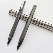 1PCS Hot sell Promotional Square plastic black ballpoint Stationary Gift Pen