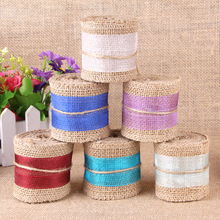 2016 new linen garment accessories roll Ribbon clothing DIY lace linen roll wide:6cm  length:2Meters