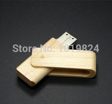 0!Best quality100% real capacity 8GB 16G USB 2.0 Flash Memory Pen Drive Stick wooden swivel  U Disk for Laptop Computer S128