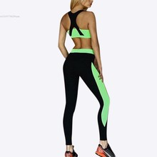2017 Hot Women Sexy Set Clothing Set GymYoga Clothes Summer Crossfit Suit Fitness Bra Pants Set Costume Women Tracksuits 41(China)