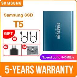 Samsung Портативный SSD T5 250 ГБ 500 1 ТБ 2 ТБ внешний твердотельный накопитель HD жесткий диск USB 3,1 Gen2 (10 Гбит/с) для ноутбука и ПК