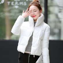Hot sale 2017 new women's jacket to keep warm in winter padded silk ladies fashion casual Slim padded winter jacket LOW LUV(China)