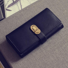 New Women Long Standard Wallet Korean Version Large-capacity Clutch Bag Fashion Multi-function Cellphone Wallet Purse QB033