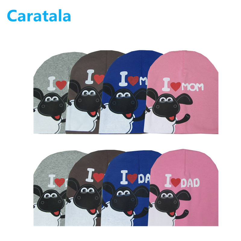 Caratala 0 2 years I love MOM Love DAD cotton baby hat cap Girl Boy Candy