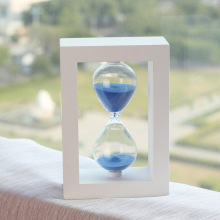 #a 30 minutes timer crystal hourglass plastic safety creative craft ornaments gifts blue Hourglasses