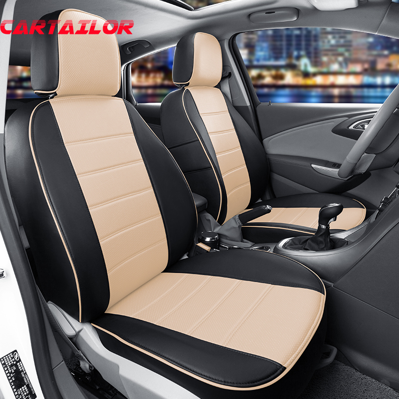 CARTAILOR Car Styling Seat Covers For Toyota Crown 2004 2008 Cars Interior Accessories Black PU