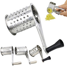 Kitchen Tools & Gadgets Stainless Steel Cheese Grater Accessories Round Rotary Shredder Tools Hot Sale