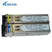 ahilnk 2pairs a lot! Compatible Module 1310/1550nm BIDI SFP 1.25G WDM SFP 3Km SC/LC Connector With DDM(China)