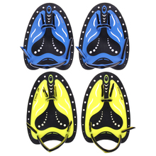 2 Colors Men Women Swimming Paddles Training Adjustable Silicone Hand Webbed Gloves Padel Fins Flippers For Adults Learn Gear(China)