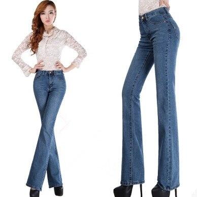 Women Jeans 2017 Fashion Women Bell-bottom Jeans Women Elastic Cotton Denim Pants TrousersОдежда и ак�е��уары<br><br><br>Aliexpress