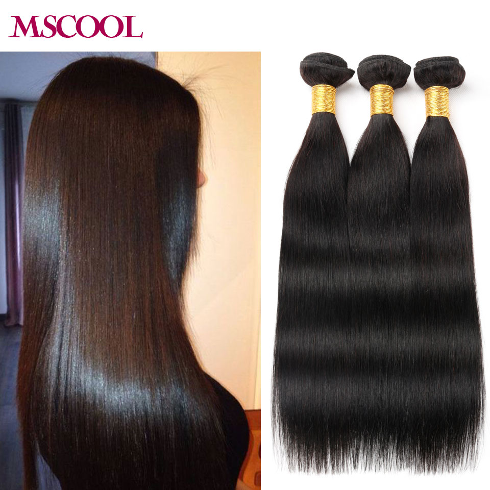Indian Virgin Human Hair 3pcs/Lot Straight Hair MSCOOL Hair Products Silky Straight For You Fast Shipping Soft Straight Hair<br><br>Aliexpress