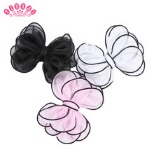 TINSAI 12PC Hair Bow Chiffon Butterfly Bow Big Hair Pins Clips Baby girl hair Accessoires 8 Colors Fashion Hot hairpins children