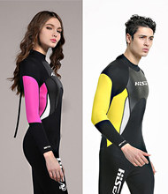 2.5mm Neoprene Wetsuit Men Women Spearfishing Wet Suit Diving Swimwear Lovers Swimsuit Long Sleeve Thermal Girls Boys