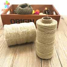Orgainc 1mm* 200ft(60m) Hive Hemp Wick Bees Waxed hemp Twine Rope cigarette lighter candle craft free shipping NEW high quality(China)