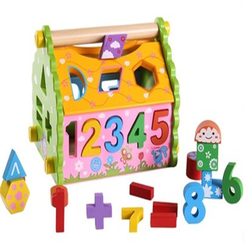 3-6 multifunctional digital geometry matching puzzle wisdom house children intelligence toy wooden baby gifts for children<br><br>Aliexpress