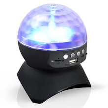 Disco DJ Party Bluetooth Speaker Built-In Light Show Stage Effect Lighting RGB Color Changing LED Crystal Ball Support TF AUX F(China)
