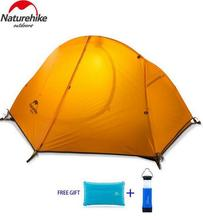 Naturehike 4 Season Ultralight 1 Person Double Layers Aluminum Rod Hiking Tent 20D Silicone Fabric With Camping Mat