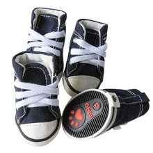 Denim Dog Shoes Sport Anti-slip Sneaker Casual Pet Shoes For Dog Teddy Yorkie Boots Large Size Shoes 25S1