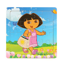 3D Wooden paper Jigsaw Puzzles Toys for Children Masha and Bear Dora Bear Puzzles Kids Toys Baby Toys Educational toys Puzzels(China)