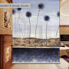 MOMO Thermal Insulated Blackout Fabric Custom Dots Window Curtains Roller Shades Blinds, Alice 271-273