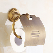Free Shipping Best Gift 2pcs a lot Vintage Antique Toilet Paper Holder Tissue Holder Brass Bathroom Accessories Products ZR2020