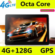 10 polegada tablet pc Octa Núcleo 3G 4G LTE Tablets Android 7.0 RAM 4 GB ROM 128 GB Dual SIM Bluetooth GPS Tablets 10.1 polegada tablet pcs(China)