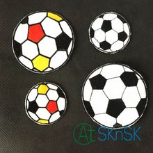 12pcs Mixed Color And Size Football Cartoon Embroidered Iron On Patch Motif Sew On Applique DIY Accessory A100