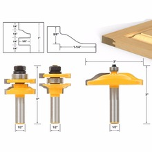 3Pcs 1/2'' Shank Rail & Stile Ogee Blade Cutter Panel Cabinet Router Bits Set(China)