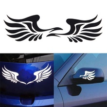New Arrival 1 Pair Personality Fire Wings Side Mirror Car Stickers Decorative Stickers vinilos decorativos(China)