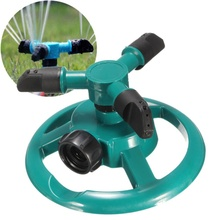 Garden Greenhouse Three Arm Automatic 360 Degree Rotary Spray Head Garden Lawn Sprinkler Irrigation Watering Supplies Tool