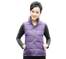 Hot girl Autumn Winter leisure sleeveless vest Women's spring vest coat jacket  white blue yellow Candy color vest L-3XL