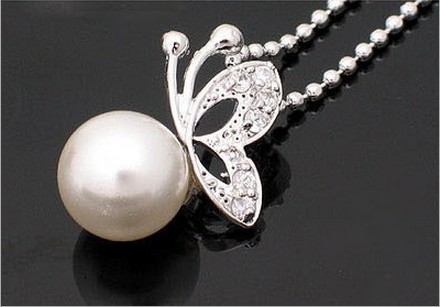 N007 Fashion imitation pearl jewelry Fashion jewellery settings, Pendant,Free necklace Vintage Jewelry 2017 HOT(China)