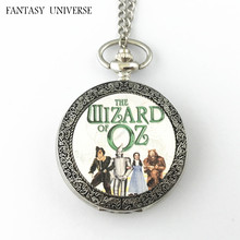 FANTASY UNIVERSE Freeshipping wholesale 20pc a lot The Wizard of Oz pocket watch Necklace Dia4.7CM DFEIJI56