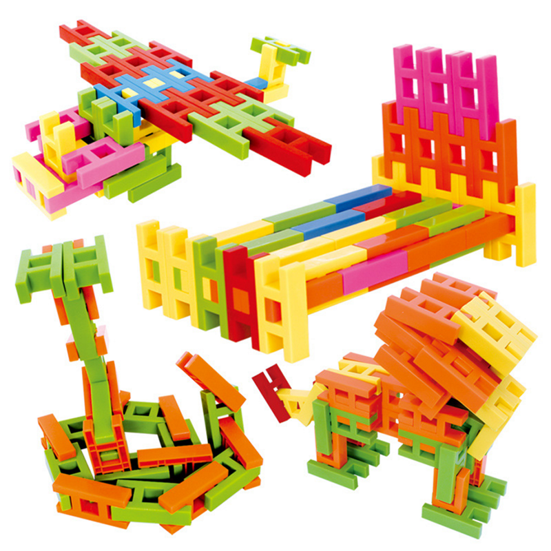 1 Set Creative Kids Baby Educational Early Learning Colorful H-shape ABS Plastic Models Building Blocks Kits Toys for Children<br><br>Aliexpress