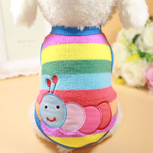 7 Size Cartoon Small Dog Clothes Soft Fleece Winter Dog Coat Warm Cup Puppy Vest New Born Clothing(China)