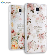Super 3D Relief Printing Clear Soft TPU Case For Xiaomi Mi4 Mi 4 M4 Phone Back Cover Ultra-thin Shell Free Ring Holder Film