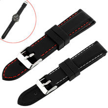 1 PC Mens BoysSilicone Rubber Watch Straps Bands Waterproof 20mm 22mm 24mm