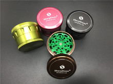 Pink/Green/Black/Brown 63mm SharpStone Version 2.0 herb grinder Aluminum Metal Tobacco smoking weed Sharp Stone grinder(China)